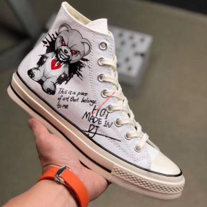 Converse Shoes Chuck 70 Gloomy Bear Canvas High Top White