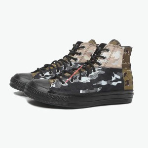 Converse Shoes Chuck 70 SNL Camouflage Canvas High Top Black