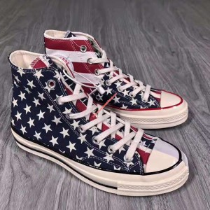 Converse Shoes Chuck 70 Stars And Stripes Canvas High Top Red
