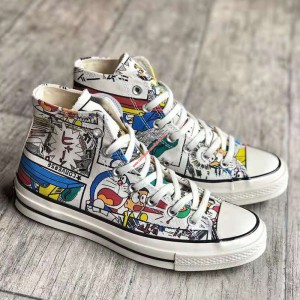 Converse Shoes Chuck 70 X Doraemon Canvas High Top Graffiti