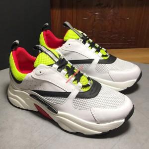 Dior B22 Multicolor Calfskin Sneaker White/Yellow