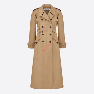 Dior Cotton Trench Coat Apricot