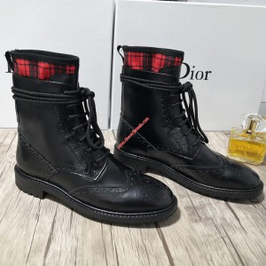Dior D-Order Calfskin Low Boot Black/Red