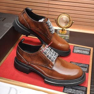 Dior Homme Calfskin Derby Shoes Brown