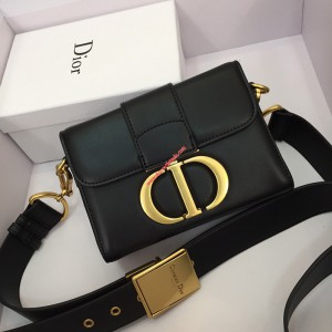 Dior 30 Montaigne Calfskin Bag Black