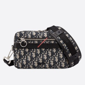 Dior Oblique Safari Messenger Black