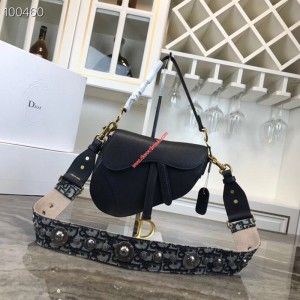 Dior Saddle Calfskin Bag Black