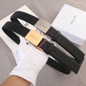 Dior Vintage Calfskin Belt Black