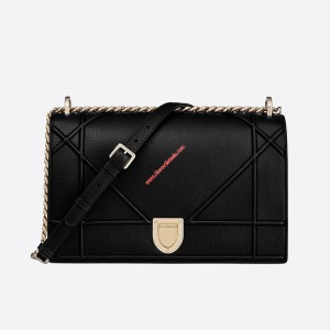Diorama Calfskin Bag Black