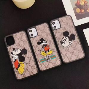 グッチ ミッキーコラボ iPhone11pro maxケース ブラント ディズニー アイフォン11/11proカバー 可愛い