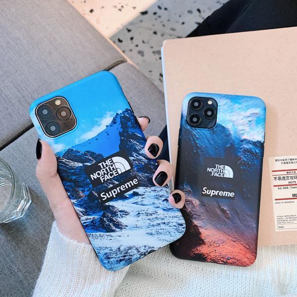 シュプリーム ノースフェイスコラボ iPhone11/11pro/11pro maxケース ブラント アイフォンxr/xsカバー