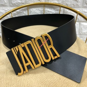 J'Adior Belt in Calfskin Black
