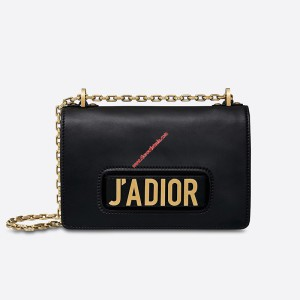 J'Adior Calfskin Bag Black