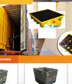 Stackable plastic pallets are typically used in flour, rice, salt or cement warehouses where the ...