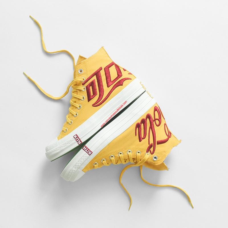 Converse Shoes Chuck 70 x Kith x Coca-Cola Canvas High Top Yellow