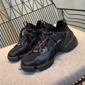 Dior D-Connect Calfskin Sneaker Black