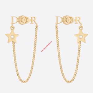 Diorevolution Chain Earrings Gold