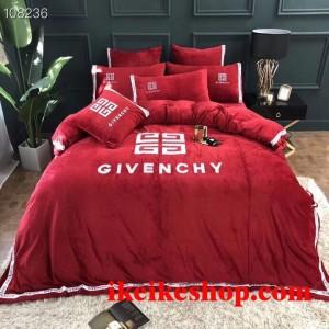 Givenchy 布団カバー シングル ダブルサイズ 4点セット ジバンシー 寝具カバー ジバンシィ 刺繍 布団カ ...