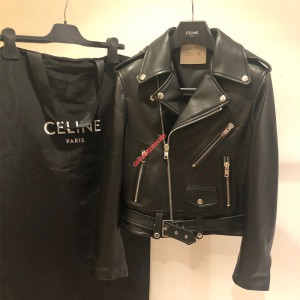 Celine 2019 Classic Jacket In Lambskin Black