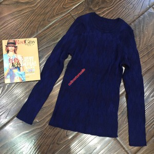 Celine Crewneck Sweater In Merino Wool Blue
