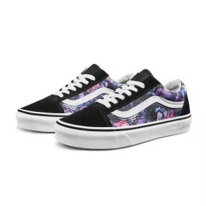 Vans Old Skool Warped Floral Shoes Black