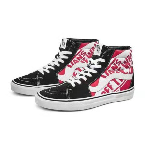 Vans Sk8-Hi Stitching Shoes Black/Red
