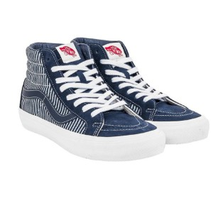 Vans Sk8-Hi X Drill Chore Coat Shoes Navy Blue