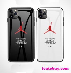ナイキ iPhone11 Proケース Nike Galaxy S10 Plusケース エアジョーダン 白 黒 全二色 icutebuy通販