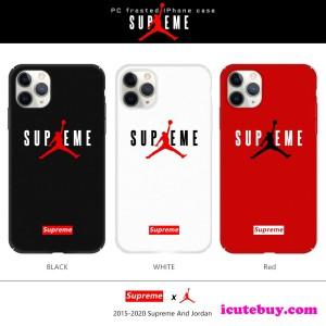 シュプリーム エアジョーダン コラボ iPhone11 Pro/11/xs/xr/8ケース 白 黒 赤 芸能人定番 限定 icuteb ...