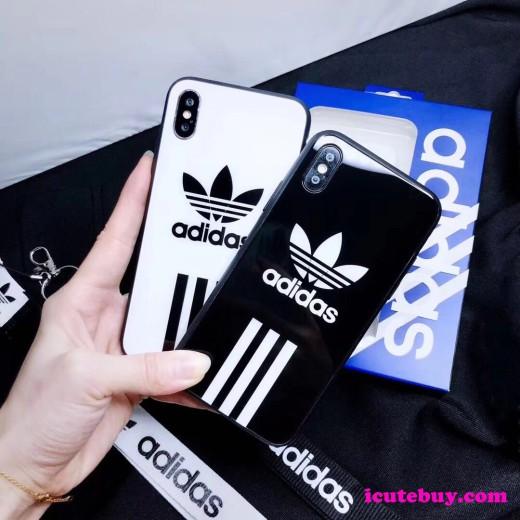 アディダス iphonex ケース Adidas ロゴ柄 三つ葉iPhoneX XSケース お洒落 iPhone8 8 プラスケース ADI ...