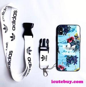 iPhoneXS Max/11Pro携帯カバー 花柄 アディダス iphoneXSケース 鏡面 adidas アイホンテン ガラスケー ...