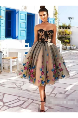 SweetHeart Neckline A Line Homecoming Dresses Colorful Butterflies App – smilepromdress-es https ...
