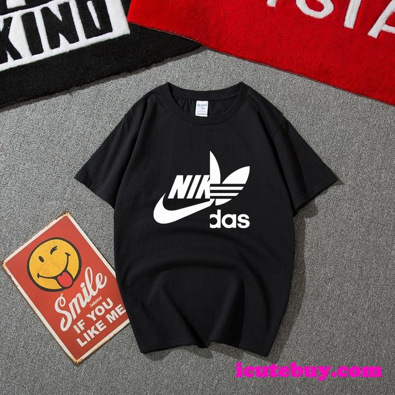 アディダス ナイキ コラボ Tシャツ Nike Adidas コラボ 半袖tシャツ ブランド カジュアル系 男女 icute ...