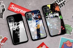 ステューシーiPhone11ケースガラス stussy iphone 11 pro/11 pro max携帯カバー鏡面 メンズレディース ...