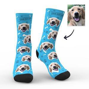 Foto Socken Benutzerdefinierte Hunde Gesichts Socken – MadeMine.de