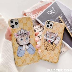 GUCCI iPhone11pro maxケース 可愛い 猫柄 グッチ iphone 11/11proカバー ペア ブラント アイフォンxr/ ...