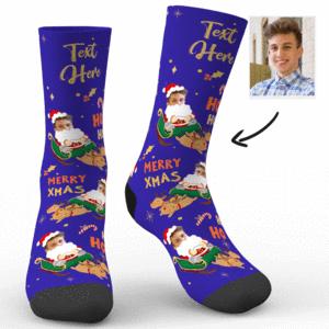 Weihnachten Sankt Pferdeschlitten Socken mit Text – MadeMine.de