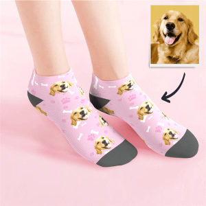 Custom Low cut Ankle Socks – Dog Socks/Pet Socks/Pup Socks – MyPhotoSocks