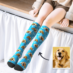 Custom Photo Knee High Socks – Dog Socks/Pet Socks/Pup Socks – MyPhotoSocks