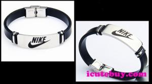 ナイキ ブレスレット NIKEロゴ 腕飾り 革  アクセサリー メンズ 並行輸入品