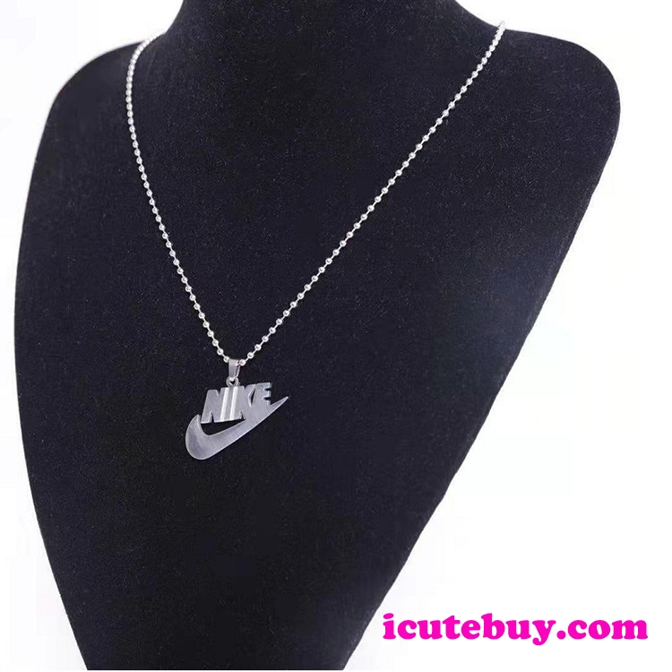 ナイキ ネックレス NIKE ペンダント Nikeロゴ チェーン シルバー 男女 アクセサリー icutebuy通販