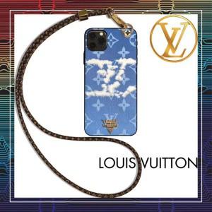 ルイヴィトン iPhone11/11proケース ブラント モノグラム LV iphone se/11pro maxカバー 長いストラッ ...