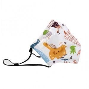 Verstellbarer Kindermaske mit Filteratemventil 3-lagige Cartoon-Druck staubdichte winddichte ant ...