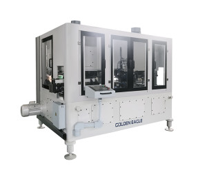 This machine adopts vertical can feeding, suitable for aerosol cannecking and flanging, adopts J ...