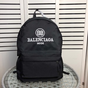 Balenciaga Logo Embroidery Backpack In Black Outlet Balenciaga Cheap Sale Store