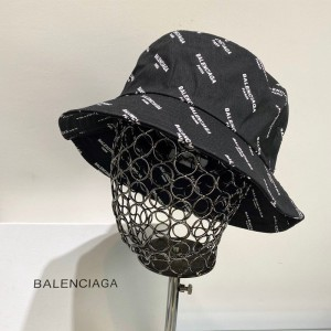 Balenciaga Logo Printted Bucket Hat Cotton In Black Outlet Balenciaga Cheap Sale Store