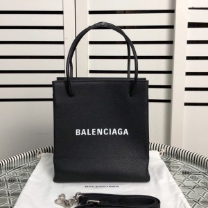 Balenciaga Shopping XXS North South Tote Bag In Black Outlet Balenciaga Cheap Sale Store