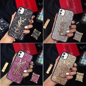 キラキラ iPhone 11/11proケース ブラント サンローラン iPhone se2/11pro max携帯ケース 女性向け