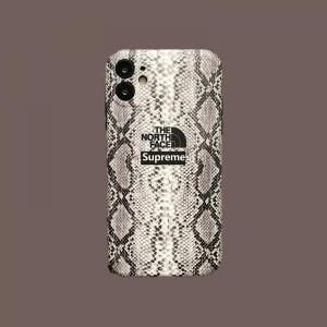 シュプリーム ノースフェイスコラボ iPhone 11/11proケース ブラント ヘビ柄 アイフォン SE/11ProMaxカバー