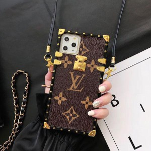 四角型 ルイヴィトン iphone11/11 pro/se2ケース ブラント アイフォン11 pro maxカバー ストラップ付き